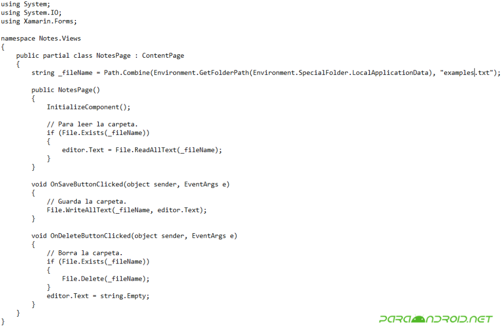 Crear una aplicación usando Xamarin Forms