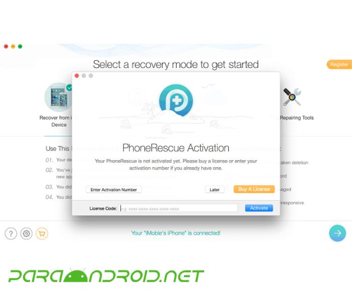 ¿Cómo funciona PhoneRescue?